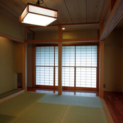 インテリア/和モダン/和室/和風/障子/雪見障子/... ぐるりと廻れる和室のある家 縁側と和室と…(1枚目)