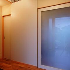 インテリア/玄関/ポーチ/土間/北欧インテリア/シュークローク/... 3つのテラスのある家 玄関のシュークロー…