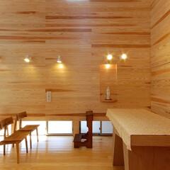 インテリア/教会/礼拝堂/ハイサイドライト/新築/北欧インテリア/... 木と光の小さな教会 礼拝堂 ハイサイドラ…
