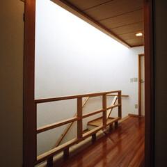 和モダン/インテリア/ライトコート/吹抜け/自然素材/漆喰/... 障子の光の家 ライトコートと縁側