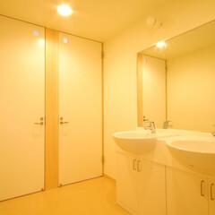インテリア/洗面所/パウダールーム/化粧室/北欧インテリア/新築/... 大きめの洗面所、パウダールーム