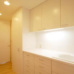 キッチン/ホーローシンク/白いキッチン/北欧インテリア/造作家具/自然素材/... 白い造作キッチン クローズキッチン、白を…