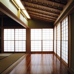 インテリア/和室/縁側/自然素材/聚楽/障子/... 障子の光の家 広い縁側のある和室