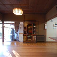 インテリア/和モダン/古民家/リフォーム/リノベーション/住まい/... 古民家リフォーム 既存木製窓、天井、壁の…