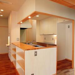 キッチン/オープンキッチン/回遊性/インテリア/北欧インテリア/ハンドメイド/... 南に中庭のある家 回遊性のあるキッチン、…