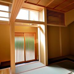 インテリア/和モダン/床の間/土間/玄関/ハイサイドライト/... 丘の上の木薫る家 吹抜け土間と和室と縁側