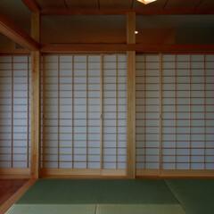 インテリア/和モダン/和室/縁側/広縁/住まい/... ぐるりと廻れる和室ある家 縁側と和室と障…