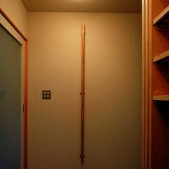 インテリア/玄関/ポーチ/土間/白玉砂利洗い出し/シュークローク/... 3つのテラスのある家 玄関とコンパクトで…