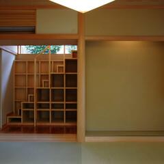 和モダン/インテリア/自然素材/聚楽/床の間/縁側/... 南に中庭のある家 和モダンの和室、魅せる…