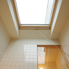 浴室・風呂/インテリア/トップライト/ハイサイドライト/ベルックス/北欧インテリア/... トップライトのあるバスルーム