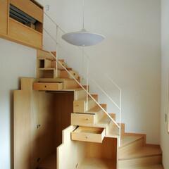 インテリア/北欧インテリア/住まい/不動産・住宅/階段/階段収納/... 3つのテラスのある家 階段下収納庫、デザ…