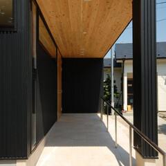 玄関/ポーチ/土間/玄関土間/インテリア/北欧インテリア/... 縁側でのんびり暮らす家 バリアフリー玄関…