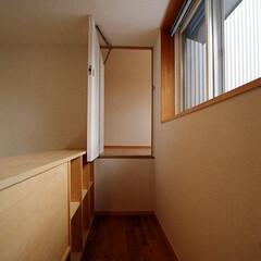 インテリア/ロフト/扉/ハイサイドライト/吹抜け/北欧インテリア/... 秘密の扉と通路、ロフトから個室へ