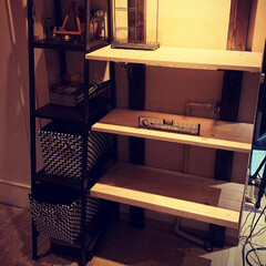 ディスプレイ棚/簡単/おしゃれ 飾り棚を作ってみました。 2×4の突っ張…(7枚目)
