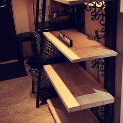 ディスプレイ棚/簡単/おしゃれ 飾り棚を作ってみました。 2×4の突っ張…(6枚目)