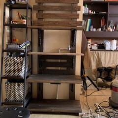 ディスプレイ棚/簡単/おしゃれ 飾り棚を作ってみました。 2×4の突っ張…(2枚目)