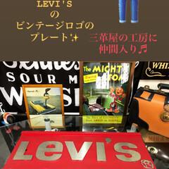 革工房/ディスプレイ/リーバイス/Levi's/ジーンズ/ジーパン/... 何処に… 飾ろうかなぁ〜✨  #leat…