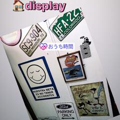 玄関あるある/雑貨/おしゃれ/DIY/アメリカン雑貨/コレクター/... お家の🏠玄関開けたら… こんな感じです(…