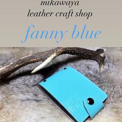 大分県/レザークラフト/ハンドメイド/カードケース/革/革小物/... mikawaya leather cra…