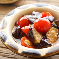 簡単/時短レシピ/夏対策/なす/とまと/つくりおき/... トマトとなすのマリネ/簡単副菜♡/米油/…