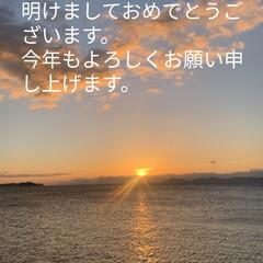 初日の出/釣り/門松/おせち料理/栗きんとん/筑前煮 1日遅れましたが 明けましておめでとうご…