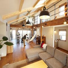 滋賀注文住宅/注文住宅/インテリア/住宅設備/住まい/一級建築士の建てる家/... 3階の廊下を見渡せるリビングは間仕切りの…