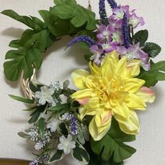 フェイクグリーン ドウダンツツジ 単品花材 H115 | PRIMA(人工観葉、フェイクグリーン)を使ったクチコミ「壁掛けリースを、初夏バージョンに変えまし…」(1枚目)