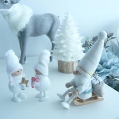 クリスマス/建築/建築家/インテリア/クリスマスツリー 雪国のようなアイシーカラーのクリスマス …