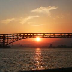 海 久しぶりにゆっくり夕日を見ました(1枚目)