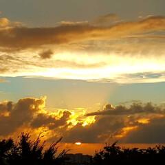 空/夕日 🌺🌴🏖🍂🍁🌾  🌴今日の夕日🌇🌅🍂🌟