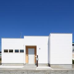 自然素材/無垢材/個性的な家/simplenote東村山/真っ白な家/平屋/... 東京都東村山市の工務店がつくる 《個性的…