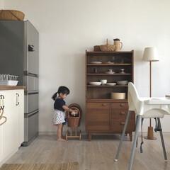 北欧ヴィンテージ/北欧インテリア/ダイニングキッチン/unico/食器棚/食器棚収納/...