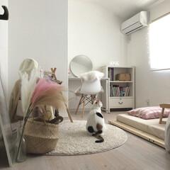 ホワイトインテリア/韓国インテリア/子ども部屋インテリア/洋服収納/女の子部屋/女の子ママ/... 小4娘のお部屋を少し模様替え♩ピンクとベ…