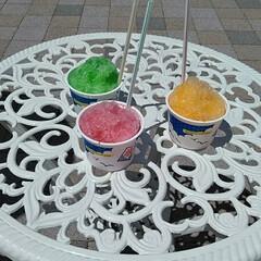 夏/かき氷/購入品/おうちご飯/お気に入りの食器/こだわりのテーブル