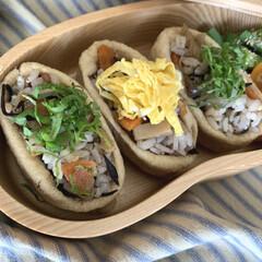 おうち時間/ランチボックス/お弁当/ランチ/お弁当箱/おしゃれ弁当箱 そら豆の形のお弁当箱を使っています。 優…(2枚目)