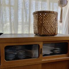 古道具/竹かご/生活の知恵/収納/おうちごはん/インテリア/... 竹かごでお芋の保存。  さつまいもが美味…(4枚目)