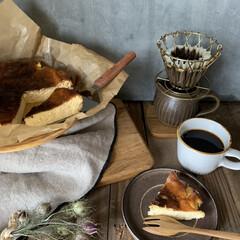 TIGERCROWN/タイガークラウン ケーキサーバー No.316(その他調理用具)を使ったクチコミ「バスクチーズケーキ、焼きました。  材料…」(1枚目)
