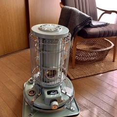 アラジン ブルーフレームヒーター グリーン BF3911-G 対流型 石油ストーブ 木造7畳 コンクリート10畳 | アラジン(電気ストーブ)を使ったクチコミ「朝、晩と急に冷えてきましたね。  ウール…」(1枚目)