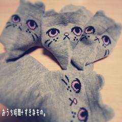 靴下/ソックス/親子コーデ/ペア/halloween/ねこ/... こんにちは♪ 今日は風邪気味の怪獣と病院…