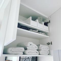 タオル収納/タオル収納棚/リクシル/ヴィータス/脱衣所収納/脱衣所/... 脱衣室にはヴィータスの組み合わせで、…(2枚目)