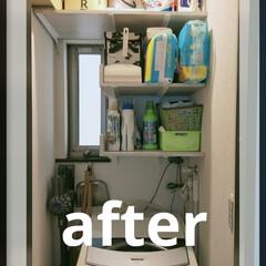 ガチャ棚/洗濯機周り/物置/洗面所/クローゼット/収納/... DIY 洗濯機周りに棚を作りました 我家…(3枚目)
