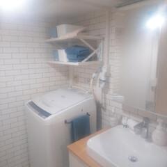 洗面所/TOTO/タオル掛け/暮らしを整える/整理収納アドバイザー/セリア/... 洗面所にタオルかけがなくて、今まで洗面台…