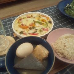 冬支度/こどもごはん/こどものいる暮らし/リミとも部/スープマグ/おでん/... 今夜の夕食🍳 豆腐グラタン+おでんという…(1枚目)