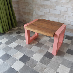 テーブル/ハンドメイド/DIY/アンティーク/北欧風/ワトコオイル/... 一人用のテーブルや化粧台として利用できる…