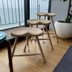 おしゃれ/可愛い/家具/ピッタリ/椅子/スツール/... こんなスツール欲しい! 高さが三段階あっ…(1枚目)