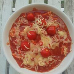 「チキン🍗とチーズのトマト煮込み トマトを…」(1枚目)