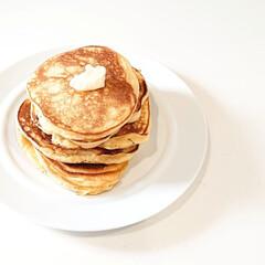 森永 ホットケーキミックス 150g*4袋入 ×12個セット(お菓子、ホットケーキミックス)を使ったクチコミ「こんにちは  今日の朝ごはんは 久しぶり…」