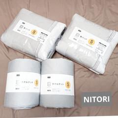 おしゃれ雑貨/NITORI/ニトリ購入品/敷きパッド/タオルケット/寝室/... こんにちは  まだ夏じゃないのにこの暑さ…