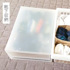 収納/収納術/収納アイデア/ズボラ主婦/引き出し収納/紙袋収納/... 【靴下収納】 旦那さんの靴下は 仕事用と…