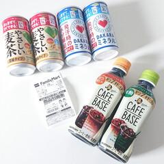サントリー GREEN DA・KA・RA やさしい麦茶 濃縮タイプ 180g 缶 30本(お茶(ソフトドリンク))を使ったクチコミ「ファミリーマートで 濃縮缶を2本買うと …」